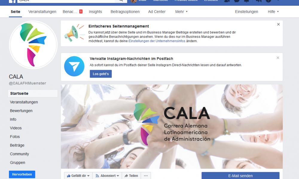 Link zu CALA bei facebook
